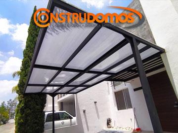 Construdomos domops de policarbonato for Materiales para toldos de aluminio